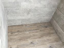 Vinyl floor in bathroom