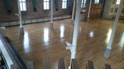 Oak floor renovated