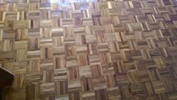 Mosaic teak parquet floor