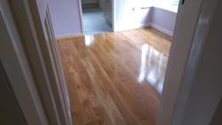 New natural oak flooring