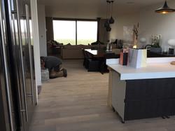 Grey engineered floor