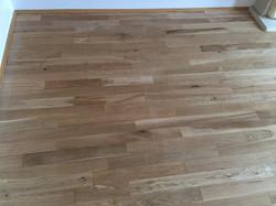 Restored oak flooring
