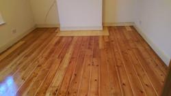 Pine floorboards with slivers