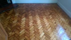 Pitch pine parquet floor