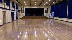 School hall sanding