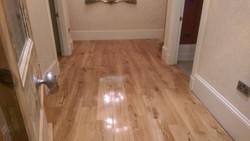 New solid oak natural floor