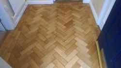 Oak parquet in little hallway