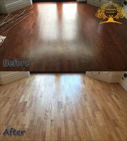 Sanding of dark oak floor