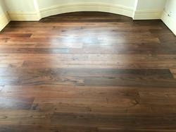 Refurbished walnut floor