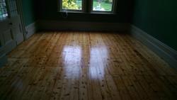 Original floorboards sanded