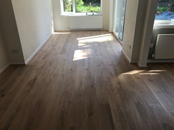 Factory finished engineered planks