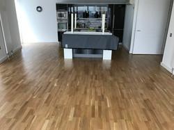Varnished oak flooring