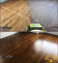 Original oak restored floor