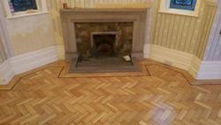 Reclaimed oak parquet floor