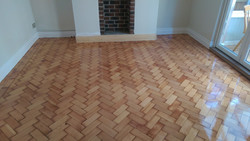 Lacquered Colombian parquet