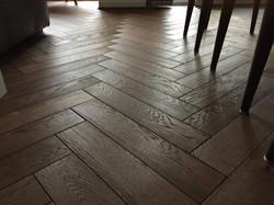 Brushed oak parquet