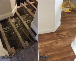 Subfloor replacement + new oak floor