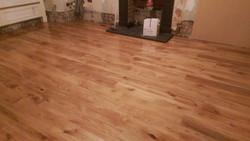 Oak boards flooring