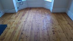 Hardwax oil on pine floorboards
