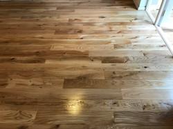 Natural solid oak floor