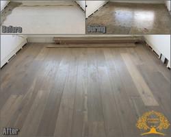 Grey oak plank flooring