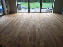 Matt oak flooring