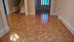 Custom pattern oak parquetry