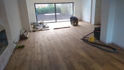 Oak plank flooring