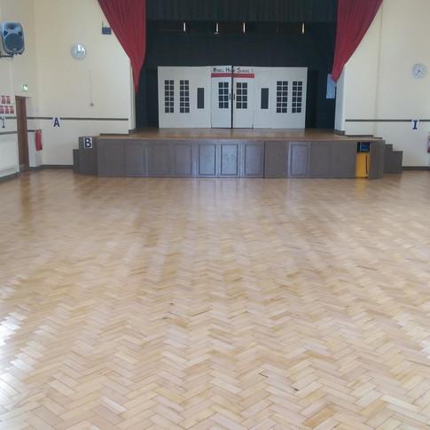 Maple parquet flooring