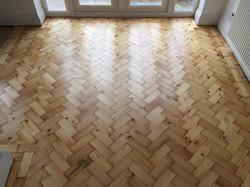 Pine parquet floor