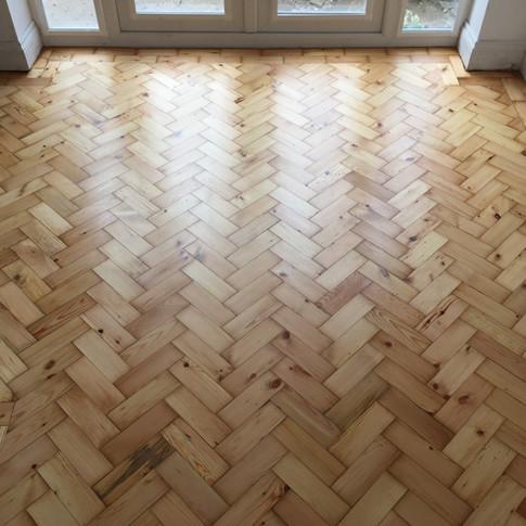 Colombian pine parquet floor