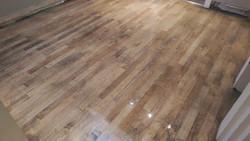 Graphite tinted maple floor