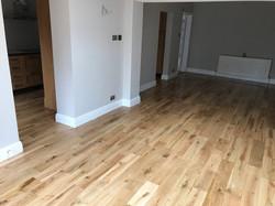 Oak solid prefinished planks