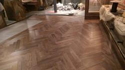 Brushed oak parquet floor