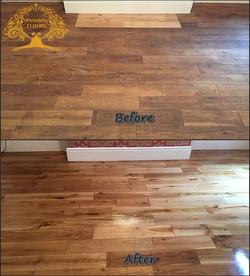 Sanding and finishing- oak floor