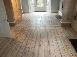 White pine floorboards