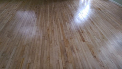 Lacquered maple strip flooring