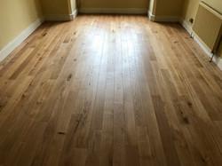 Natural oak plank flooring