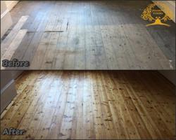 Pine floorboards