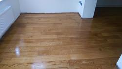 Oak flooring restored