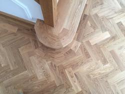 Solid oak parquet floor