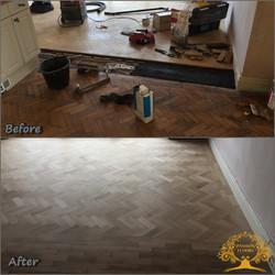 Old oak parquet floor