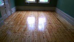 Original pine floorboards