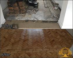 Original Colombian parquet floor