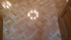 Custom oak parquet flooring
