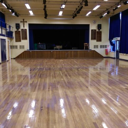 School Hall oak floor