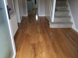 Natural oak wide boards
