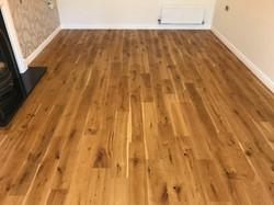 Refurbished solid oak flooring