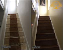 Staircase oak cladding