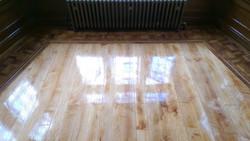 Maple and oak flooring